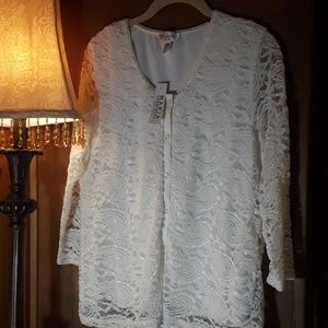 Lace top size pxl nwt, off white